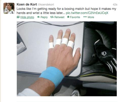 PR Koen boxer hands
