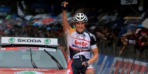 We love us a little Adam Hansen, seen here winning at the Giro (Image: Lotto-Belisol)