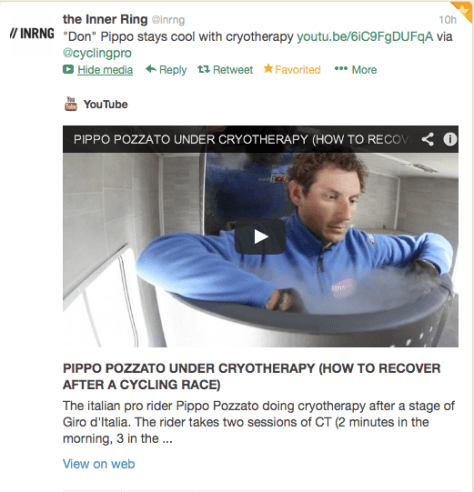 G Pippo cryotherapy