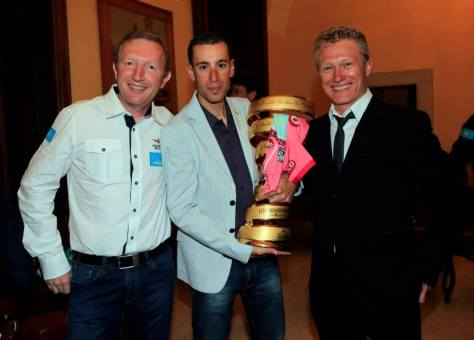 Not sure who's smile is bigger: the winner or his team manager! (image: Astana)