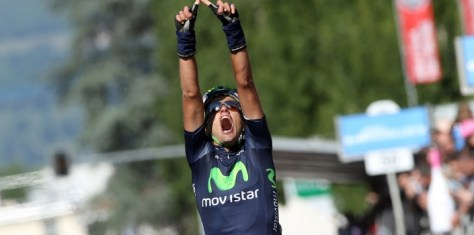 Intxausti added victory here to his Giro stage win - a successful season! (Image: Movistar)