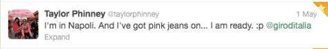 Taylor pink jeans