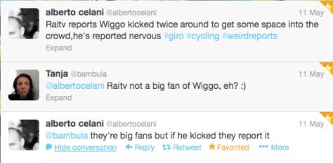 TT Wiggo kicked crowd
