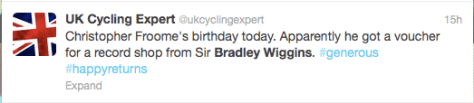 Wiggins Froome birthday