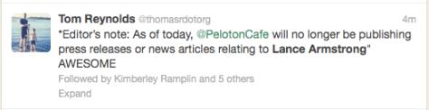 Lance Peloton Cafe Lance free