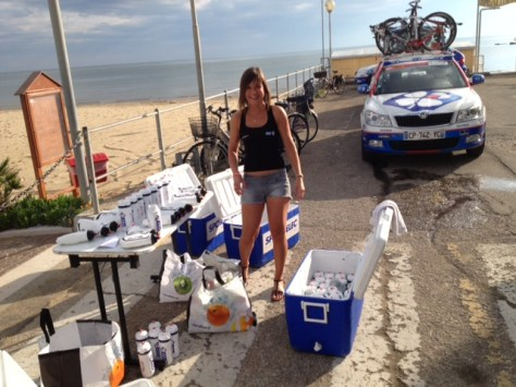 Some of the FDJ bidons and Sophie