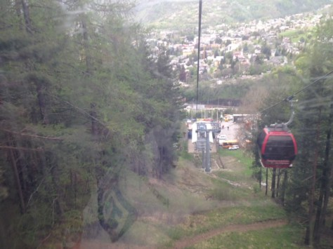 Cable car to the top!