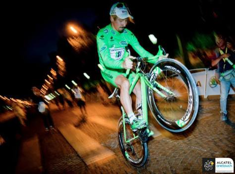 Sagan final wheelie ASO