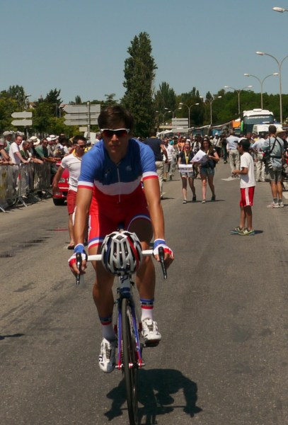 Newly crowned French national champion - surely the best kit - Arthur Vichot (image: Sheree)