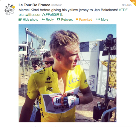Yellow Kittel almost over