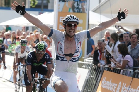 Race-winning 'tache (image: Argos-Shimano)