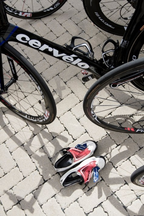 Team bike by Cervelo