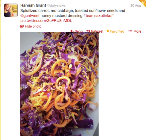 Glamour spiralized carrot