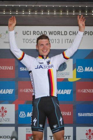 Martin has become a regular visitor to the top step of the Worlds podium, with five gold medals in three years (Image: Toscana 2013)