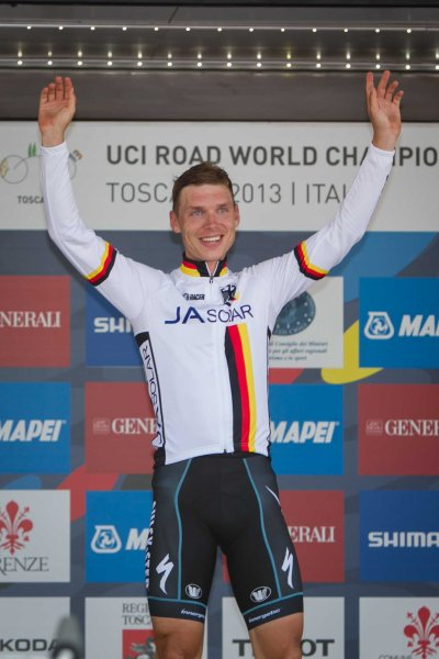 Martin used this race as training for the Worlds time trial - which he would go on to win (Image: Toscana 2013)
