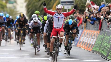 Kristoff taking victory at Milan-San Remo (Image: Milan-San Remo/Gazzetta.it)
