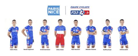 FDJ - Team for Paris-Nice 2014 (image: FDJ)