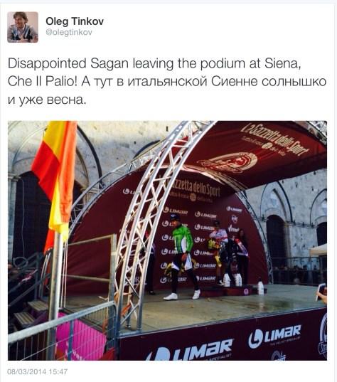 SB Tinkoff Sagan podium
