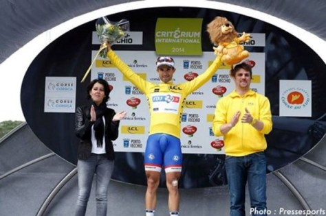 Nacer takes first stage and laeder's jersey in Corsica (image: Pressesports for FDJ)