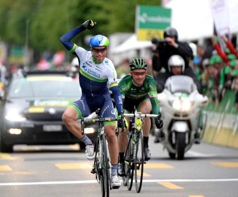 Triple delight as Michael Albasini wins stage four of the 2014 Tour de Romandie