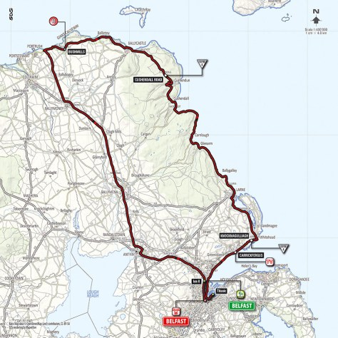 Giro 2014 Stage 2 map