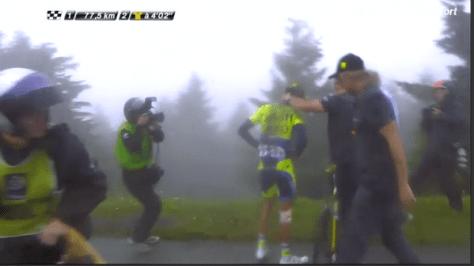 Contador abandon