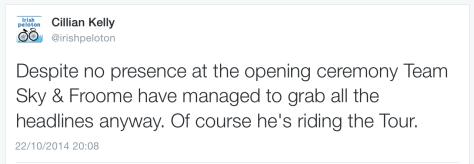 TdF Froome tweet reaction 1