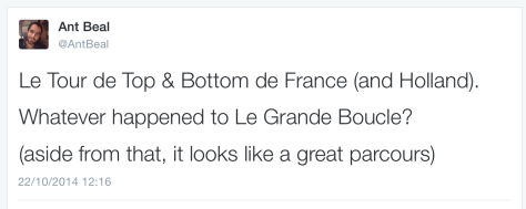 TdF Route reaction