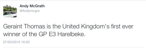 E3 Thomas win UK
