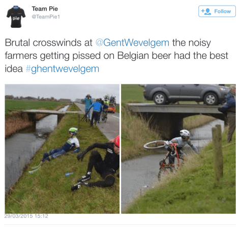 GW riders in ditches