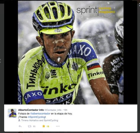 TA snow Contador