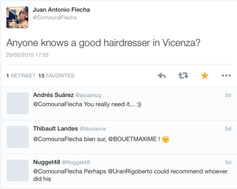 Flecha haircut announcement