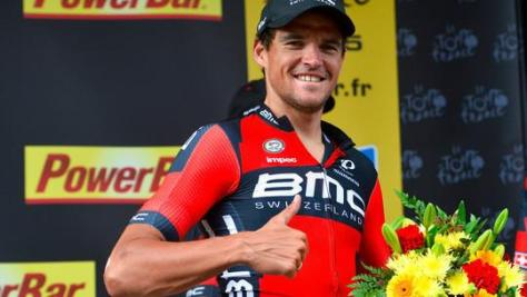 Thumbs up from today's stage winner (image: ITV Cycling Twitter)