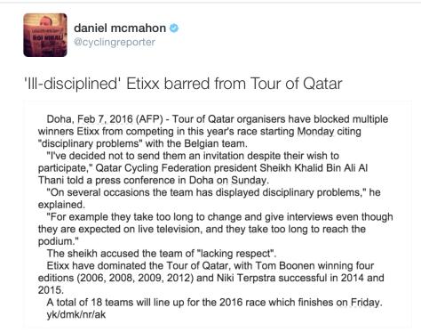 Etixx Qatar 2