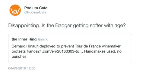 G Badger strike