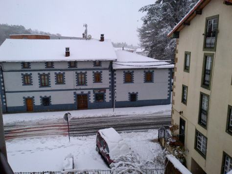Snow in Basque Country