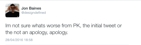 Kennaugh non apology 2