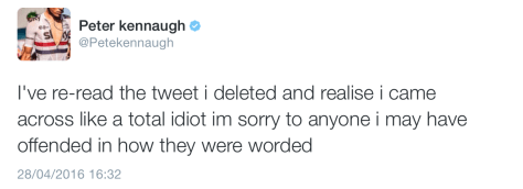 Kennaugh non apology