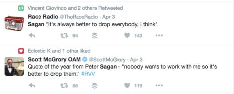 RVV after Sagan drop