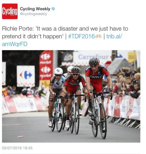 G Porte disaster
