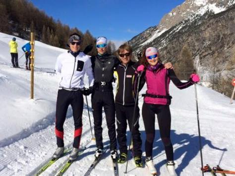 Rudy skiing with Manon and friends in the off-season (image: Facebook)