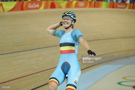 on Day 11 of the Rio 2016 Olympic Games at the Rio Olympic Velodrome on August 16, 2016 in Rio de Janeiro, Brazil.