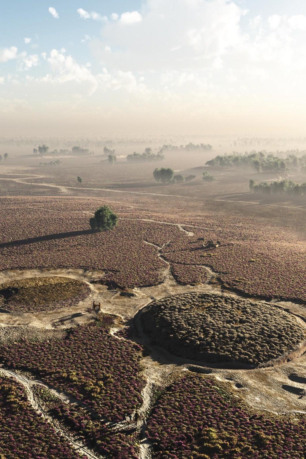 Boer & landschap