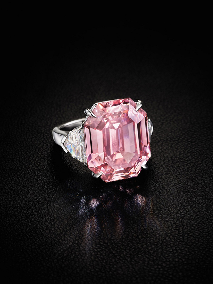 The Largest Fancy Vivid Pink Diamond Offered At Christie's Auction