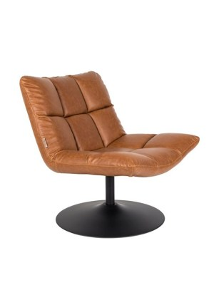 bar lounge chair vintage brown