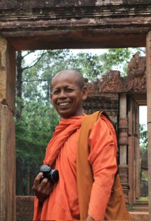 Monks from other parts of Cambodia visit Banteay Srei