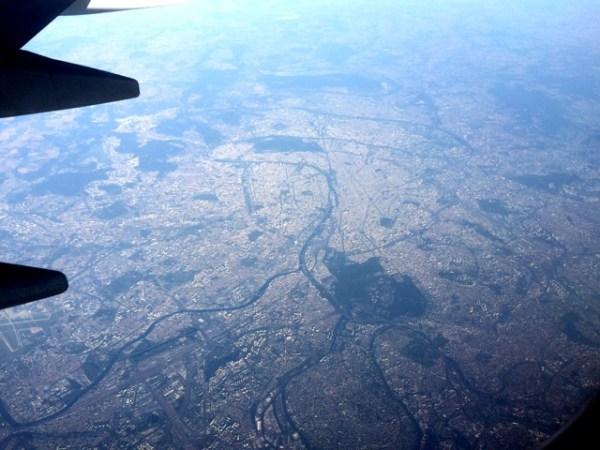 Plane views Paris Velvet Escape