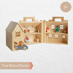 Melissa and Doug Fold and Go Dollhouse with Grimm's Large Convertible