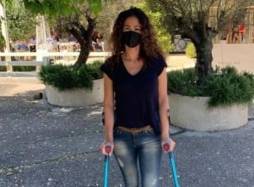 Samantha de Grenet con le stampelle sui social: ecco cosa è successo alla showgirl