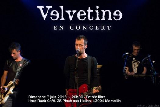 Velvetine en concert au Hard Rock Café de Marseille